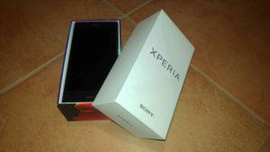 Verpackung des Sony Xperia XZ